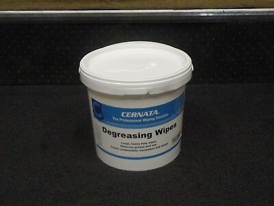 Tub of 100 Heavy Duty Degreasing Hand wipes for tools & equipment Removes Grease