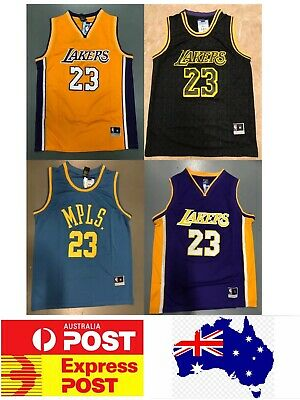 Los Angels Lakers Lebron James jerseys, Gold, Black, Purple and Blue MPLS versio