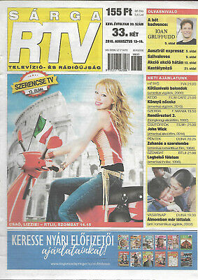 Hungarian Magazine Sarga TV 2018/33 The Lizzie McGuire Movie Hilary Duff Cover