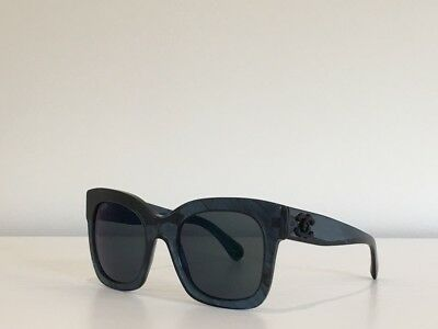 a264ca7f02 69 CHANEL 5357 c.1570 Z6 Square Amber Blue Gray Gradient Sunglasses 53