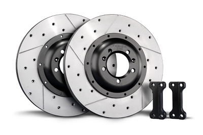 Tarox Rear Brake Disc Upgrade Kit 300mm Fiat 500 Abarth 1.4 Turbo incl Esseesse