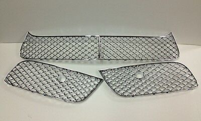 13'-15' Bentley Continental GT V8 Chrome Bumper Lower Grille 3pcs/set