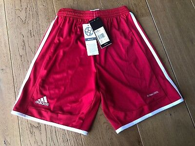 adidas Junior Boys Girls Shorts Football Training Gym School Climacool Red 11-12