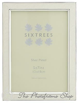 Sixtrees Zurich 2-699-57W White Enamel and Silver Plated 7x5 inch Photo Frame