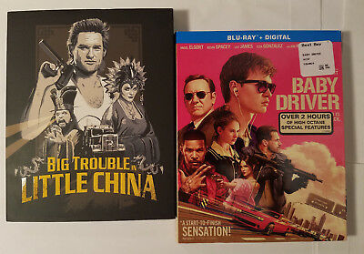 Big Trouble in Little China+Baby Driver (Blu-ray w Rare Slip Covers, No Digital)