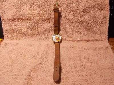 timex pooh disney watch with leather band with bees on it