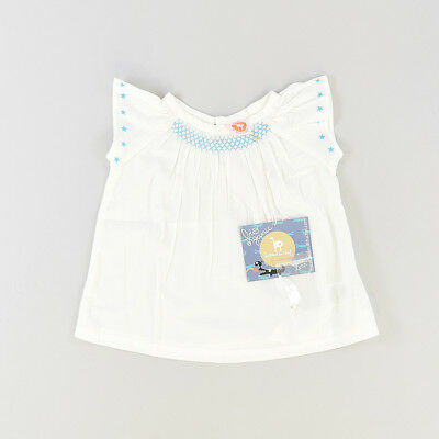 Blusa color Blanco marca La queue du chat 24 Meses