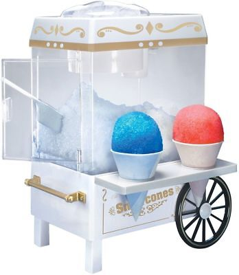 Snow Cone Maker Electric Machine Ice Sno Shaver Crusher Shaved Treat Slush Fun