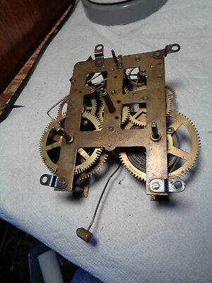 Antique-Waterbury Clock Movement-Ca.1910-To Restore-#P398