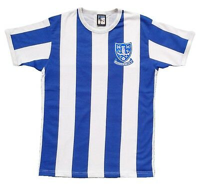 Sheffield Wednesday 1960's Football T-shirt Sizes S-XXL Embroidered Logo
