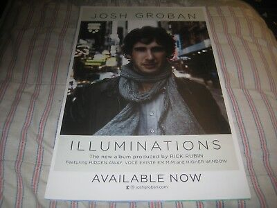 Josh Groban-Illuminations-1 Poster-2 Sided-11X17 Inches-Nmint-Excellent-Rare!!!!