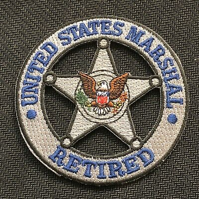 US Marshals Service - RETIRED version silver thread color patch - Very Rare