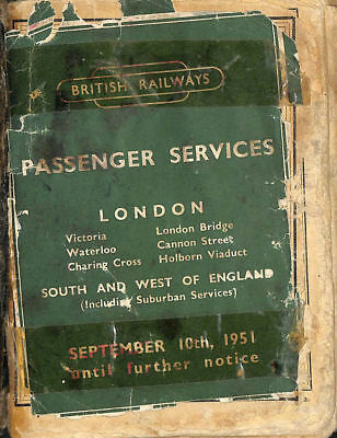 Passenger Services. London... South and West of England September 10, 1951