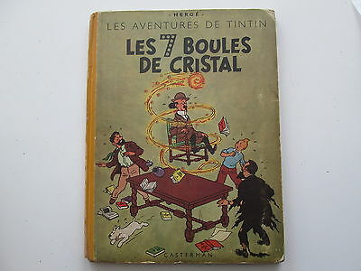 TINTIN LES 7 BALLS OF CRYSTAL 1948 B2 BE/TBE second drawing