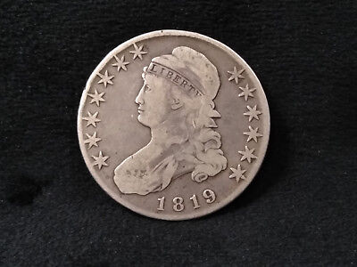 1819 Capped Bust Half Dollar **REMARKABLY WELL AGED, LOTS OF EYE APPEAL!**