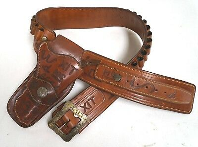 Rare VTG Western-Style Holster, W/ Silver Buckle, Hand Made By John Bianchi