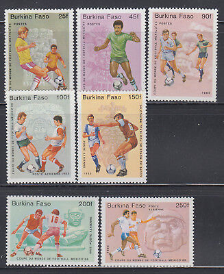 Burkina Faso 1985 World Cup Soccer Sc 681-687 Complete  Mint Never Hinged