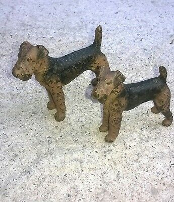 Antique Austrian Cold Painted Bronze Dog Terriers