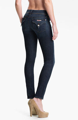 d4cb04ab12f1 Hudson Womens Collin Midrise Skinny Jeans Size 28 Dark Blue Flap Pocket  Stretch