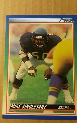 Trading Card NFL Mike Singletary Chicago Bears Score 1990