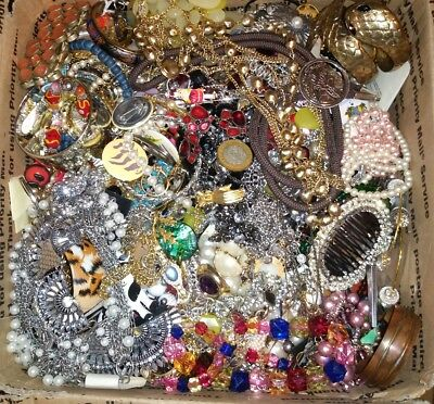 22 Lbs Pounds Vtg Now Junk Drawer Jewelry Lot Estate Find Unsearched Untested