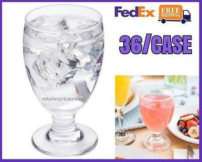 36/CASE 10.5 oz. COMMERCIAL RESTAURANT GLASS GOBLET Us FedEx FREE SHIPPING