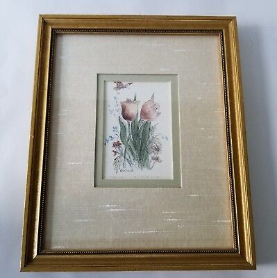 Mary Vincent Bertrand Tulips Print Signed Limited Edition 1066/1500 Framed