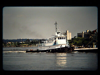 Original slide  harbor tug  GEMINI at Elizabeth, NJ on 7-15-89