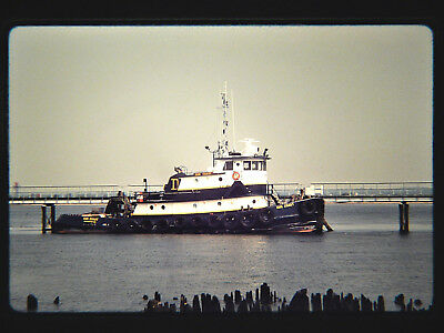Original slide  ocean tug  SUN COAST at Paulsboro, NJ on 5-15-94