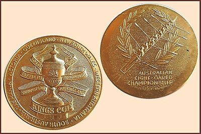 1969 King's Cup for Rowing, Large Gilt Bronze Medal
