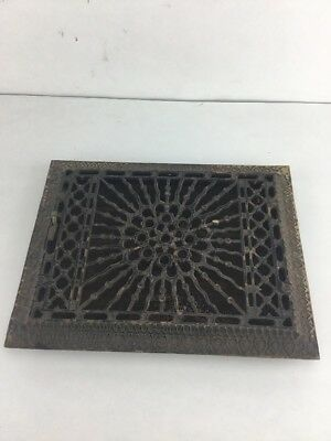 Vintage Antique Cast Iron Louvered Floor Grille Heat Grate Register Victorian