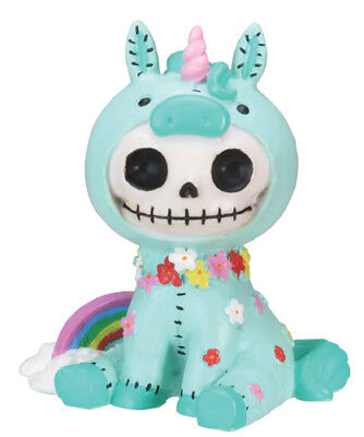 Furrybones Figurine - Unie The Unicorn - New Skull Skeleton In Costume