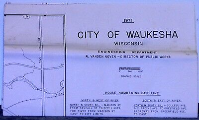 1971 Street Map of Wausau Area Wisconsin by the Wausau Area Chamber of Commerce