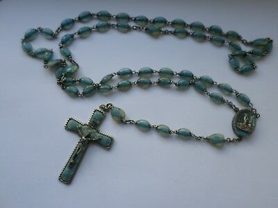 Vintage circa mid 20th century plastic rosary beads images inside - Lourdes