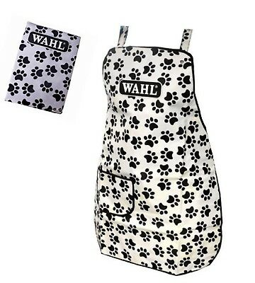 Wahl Paw Print Dog Cat Grooming Apron, High Quality Professional Groomer Apron