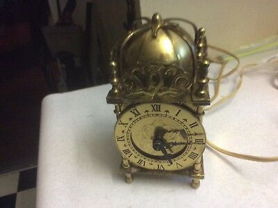 Smith's Carriage Clock Electric Solid Brass Great Britain working