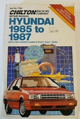 Chiltons Repair Manual Hyundai 1985 to 1987: All