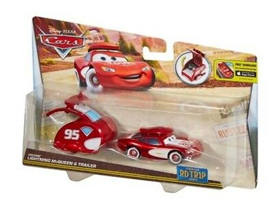 Disney Pixar Cars Lightning McQueen Trailer Diecast Road Trip Cruisin TR1P New