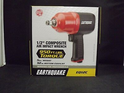 "Earthquake 1/2"" Composite Air Impact Wrench - Model EQ12C - NEW IN BOX - (EBT2)"