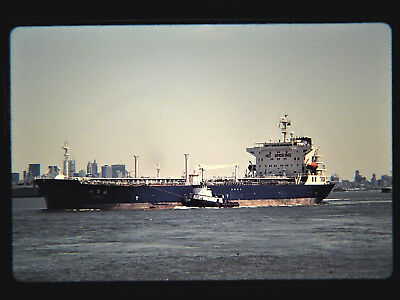 Original slide  cargo ship  MINGZHEU at St. George, NY on 6-2-96
