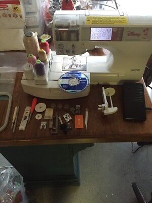 Brother Se 270d Disney Sewing Machine Embroidery Attachments W Pedal Extras