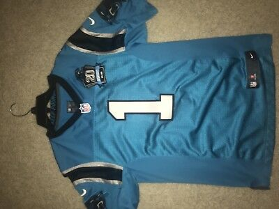 brand new d60c9 e4286 BLUE NIKE CAROLINA Panthers Cam Newton Jersey With 20 Seasons Patch