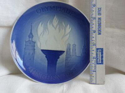 Blue B&G Munich 1972 Olympic Decorative Plate - 1st Issue - Ltd Edition