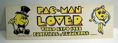 Vintage Knoxville TN World's Fair Video Expo Mr & Ms Pac-Man Lover Sticker 1982