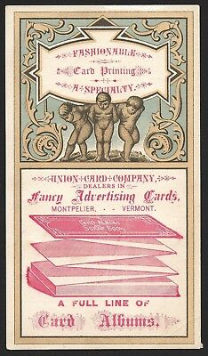 Union Card Company Trade Card - Card Printing Fancy Advertising Cards - Vermont