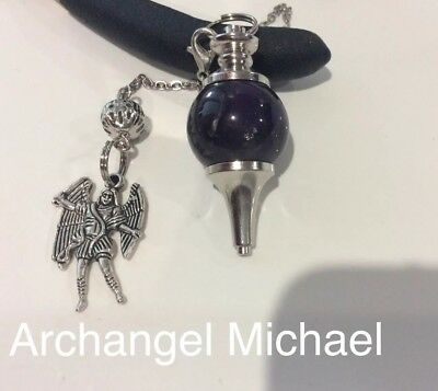 Code 318 Archangel Michael Amethyst Infused Pendulum You Are Buying 1 Piece Only