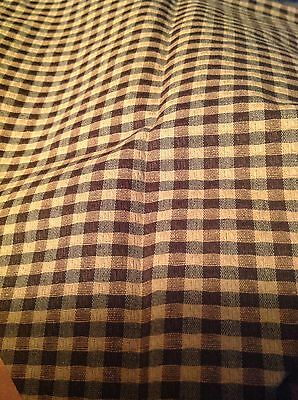 Longaberger Khaki Check Fabric Placemat