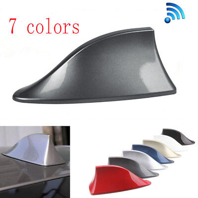 Universal Grey Car Auto Roof Shark Fin Special Radio AM/FM Signal Aerial Antenna
