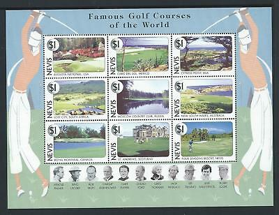 1997 NEVIS Golf Courses of the World Sheetlet MNH