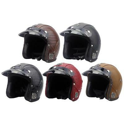 Unisex Motorcycle Helmet MotorBike 3/4 Open Face Scooter Classical for Harley